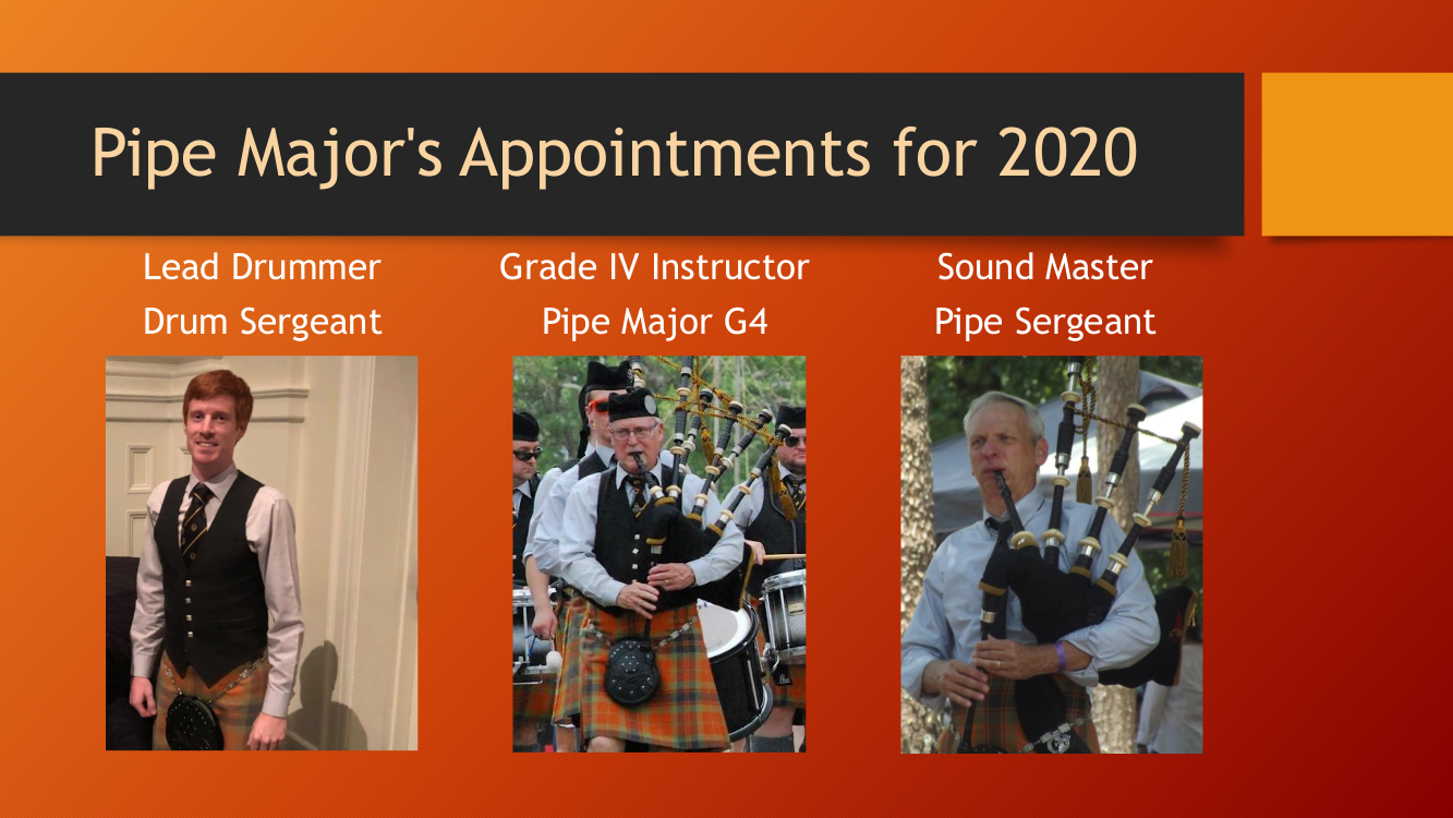 Atlanta Pipe Band 2020 Appointments